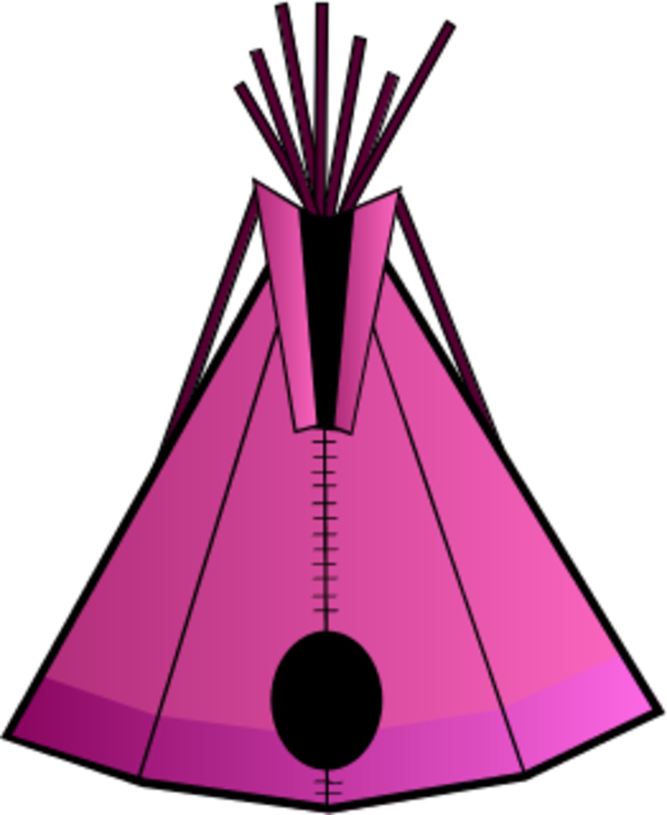 Indian tent vector clip art