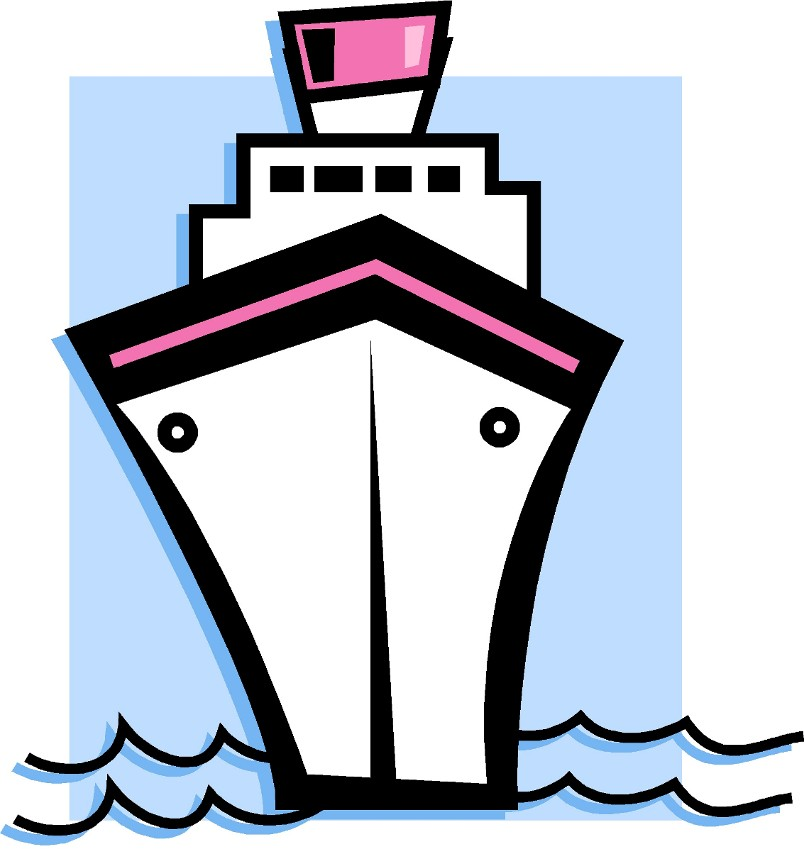Ship clip art black and white line only free 4 for Black and white only