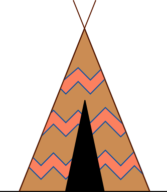Tent and campfire clipart
