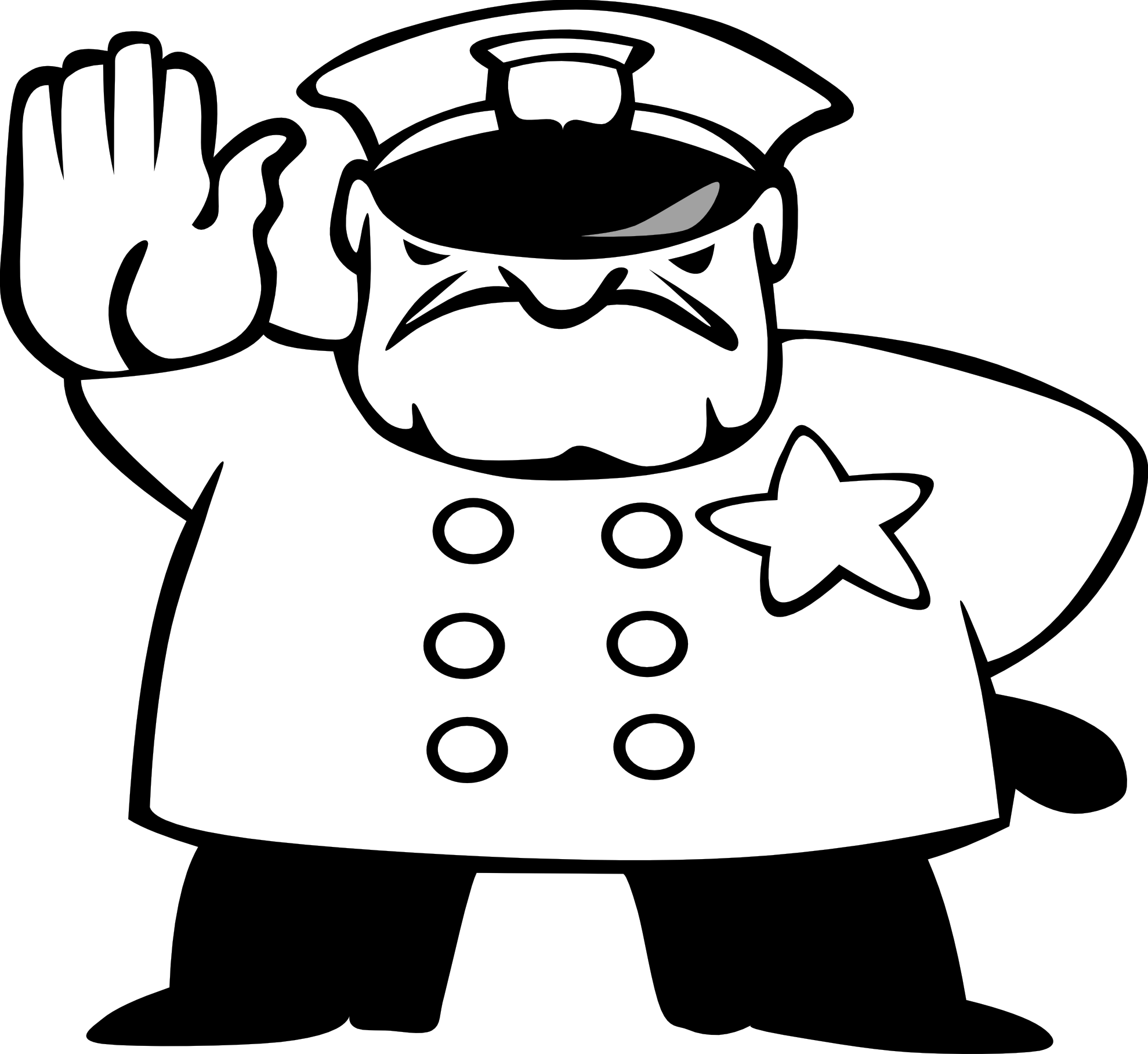 A man in police car clipart kid