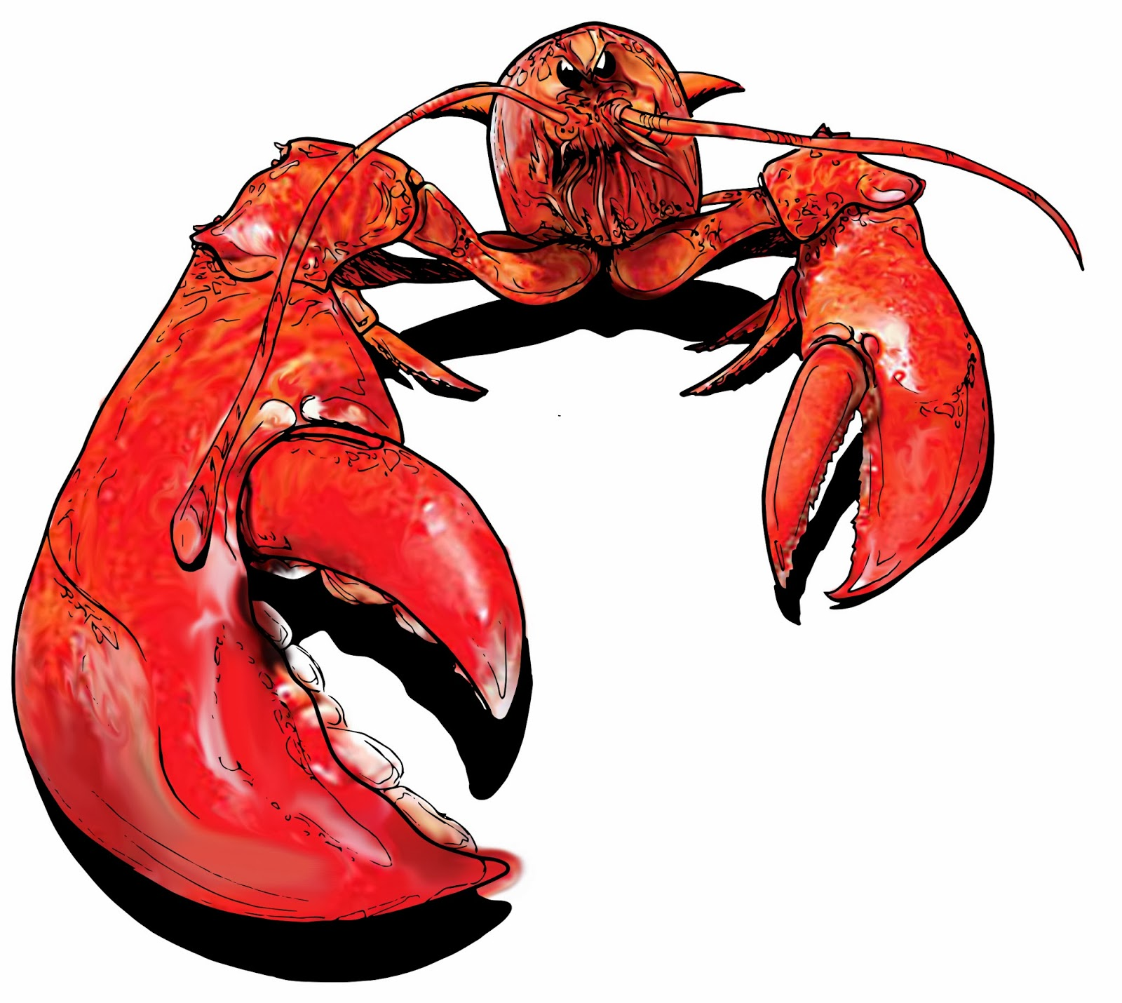 Cartoon lobsters clipart 2