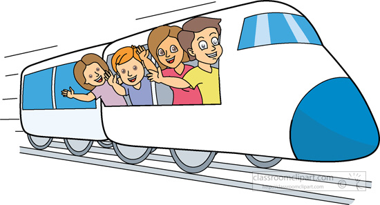 Family travel clipart kid