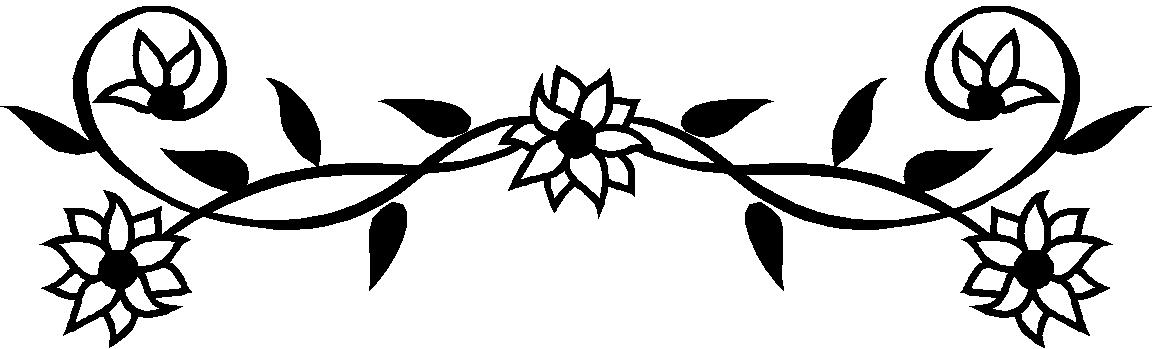 Flower  black and white black and white flower border clipart free