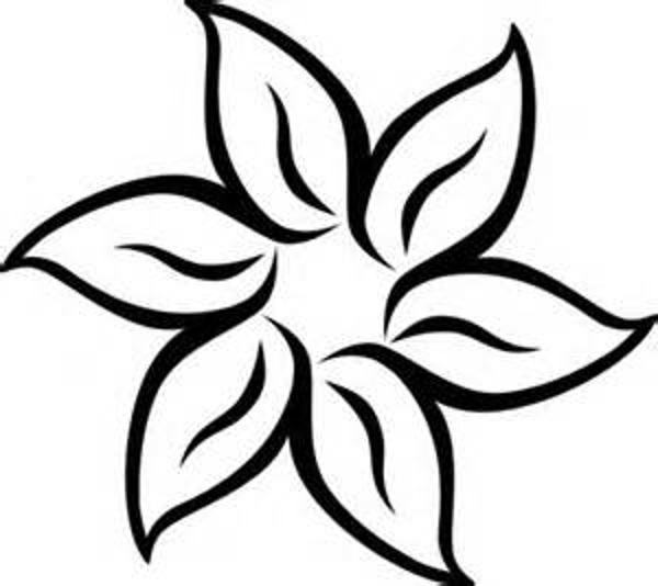 Flower  black and white black and white flower border clipart kid