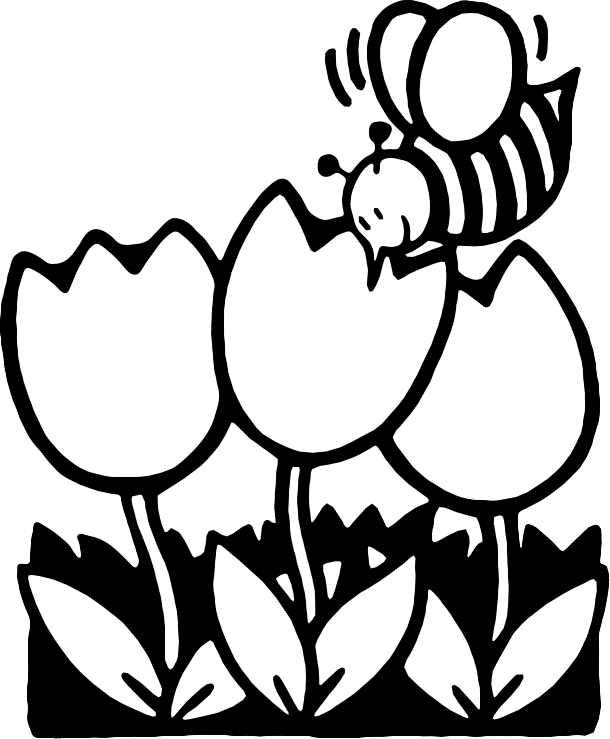Flower  black and white black and white flower clipart free