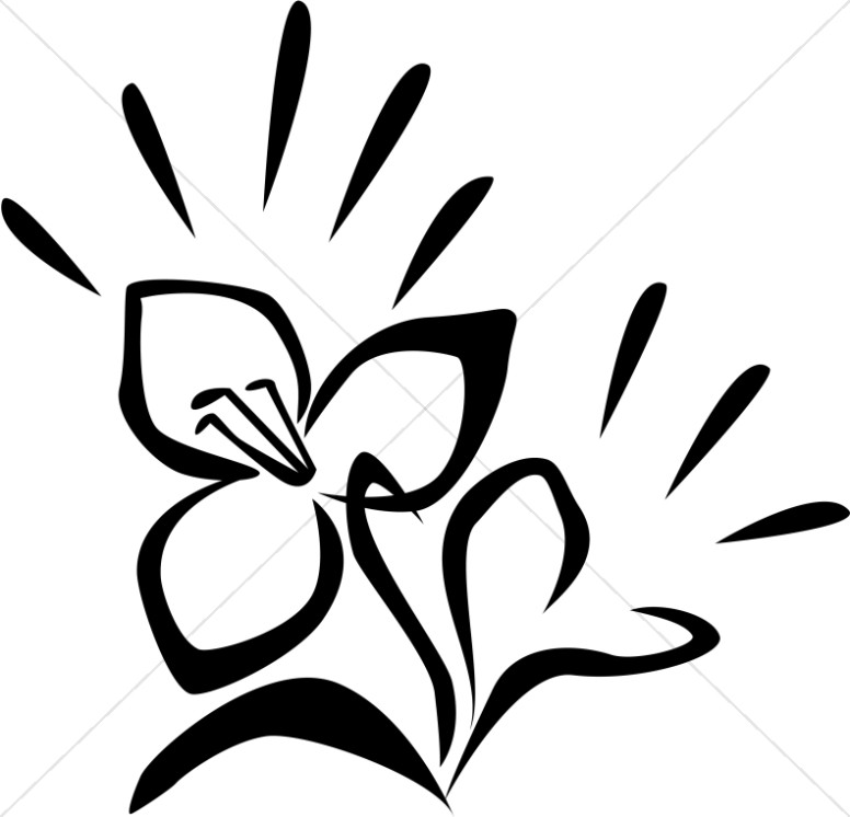 Flower  black and white church flower clipart image flowers graphic