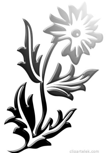 Flower  black and white clip art black and white lotus flower clipart kid