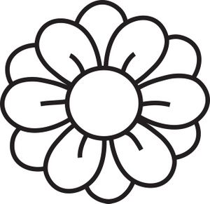 Flower  black and white clip art flower clips and clipart images on