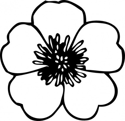 Flower  black and white flower black and white clipart kid 2