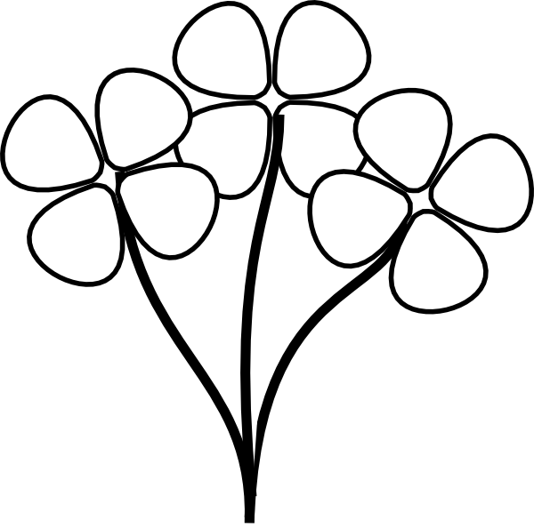 Flower  black and white flower black and white clipart kid 4