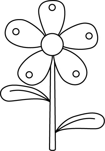 Flower  black and white flower black and white flower clipart 8 image