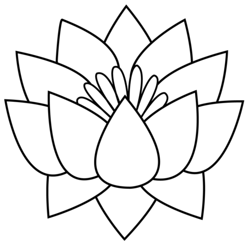 Flower  black and white flower black and white lotus flower clip art 2