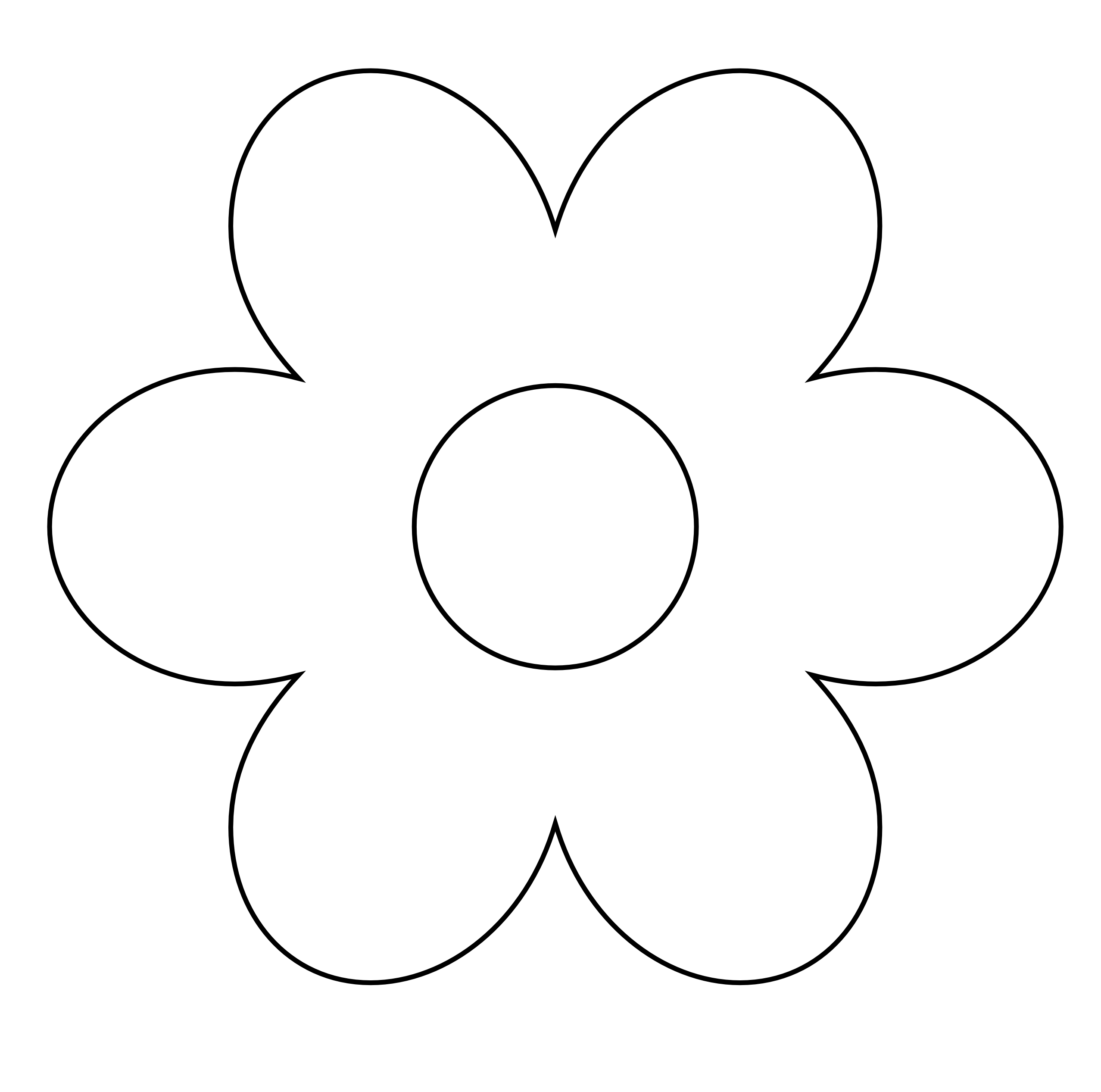Flower  black and white flower clipart black and white 13