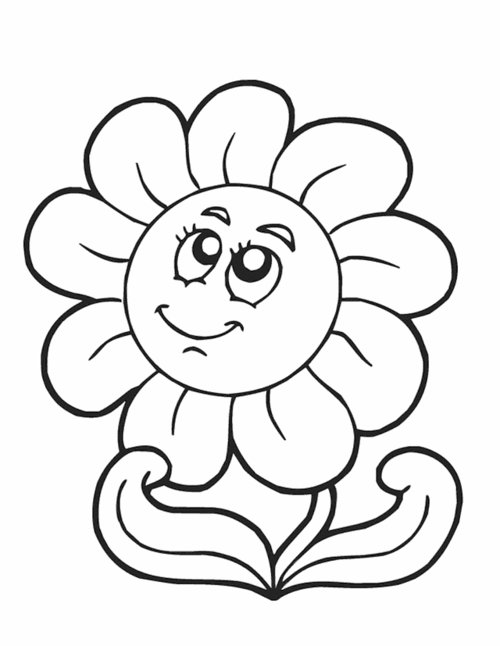 Flower  black and white flower clipart black and white 6
