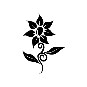 Flower  black and white flower clipart black and white 9