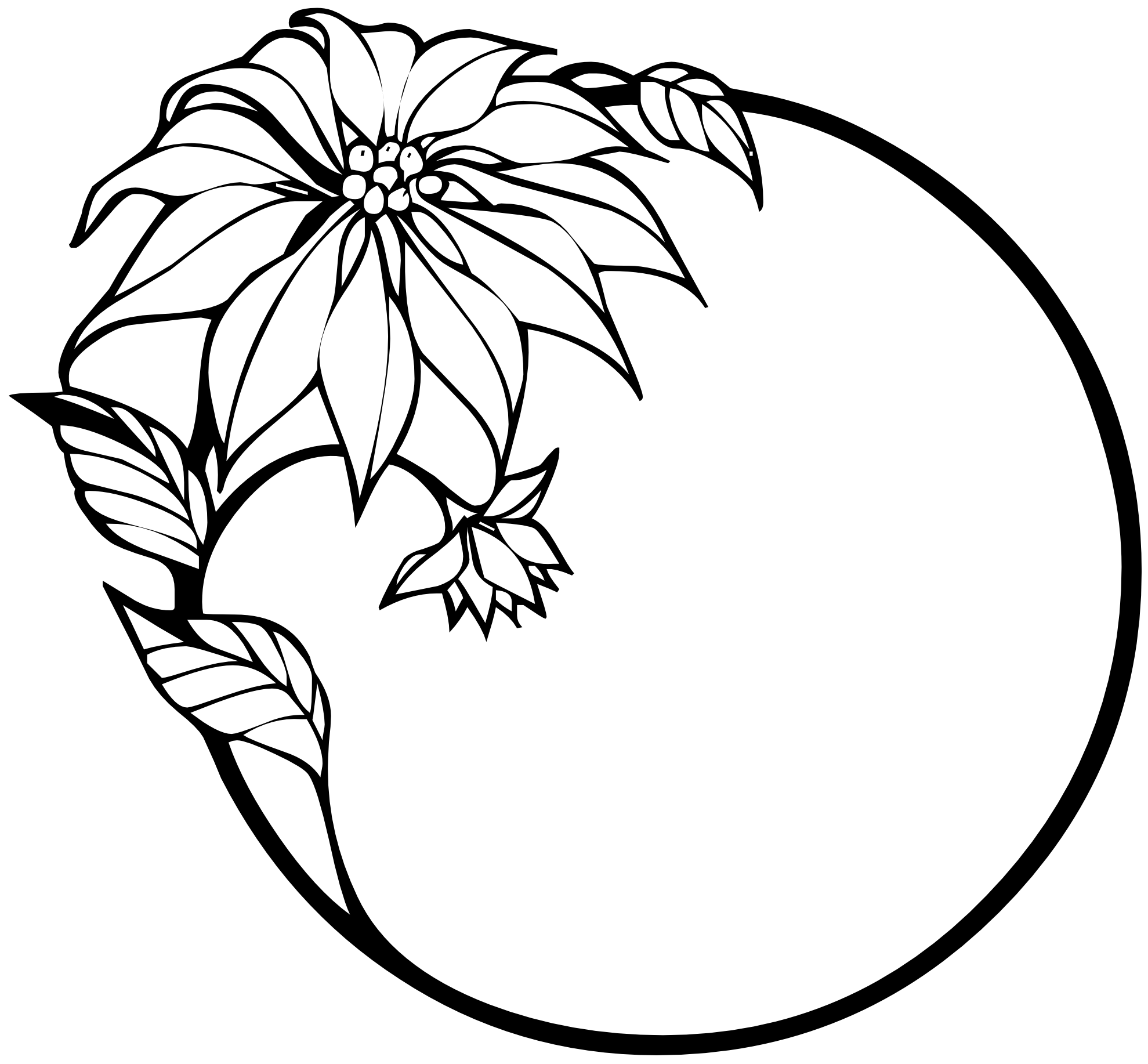 Flower  black and white flower clipart black and white border