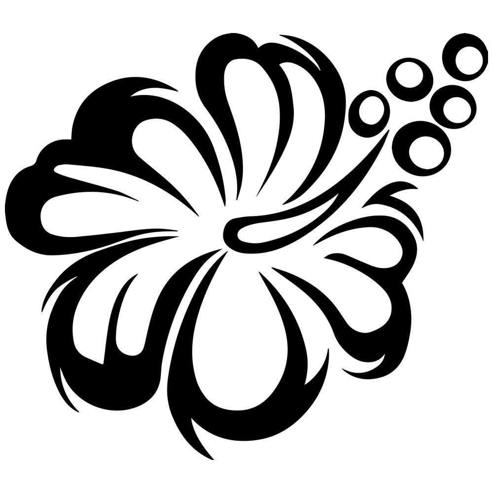 Flower  black and white flower clipart black and white free download happy birthday