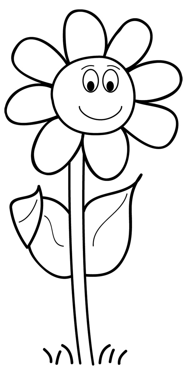 Flower  black and white flower clipart black and white