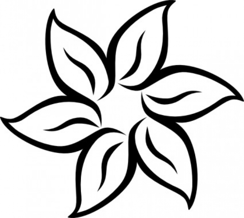 Flower  black and white flowers clipart black and white free images
