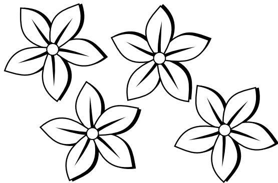 Flower  black and white flowers clipart black and white