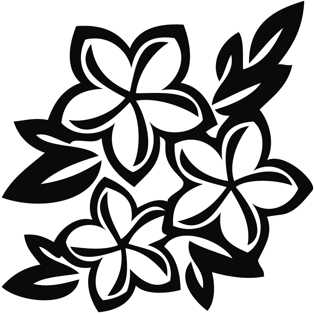Flower  black and white hawaiian flower clip art black and white free 2