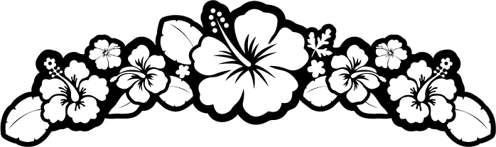 Flower  black and white hibiscus black and white clipart kid