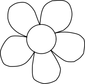 Flower  black and white simple flower clipart black and white free 2