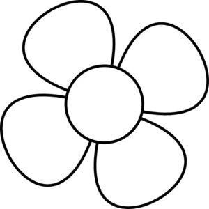 Flower  black and white simple flower clipart black and white free 3
