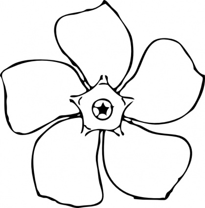 Flower  black and white summer flowers black and white clipart kid 2