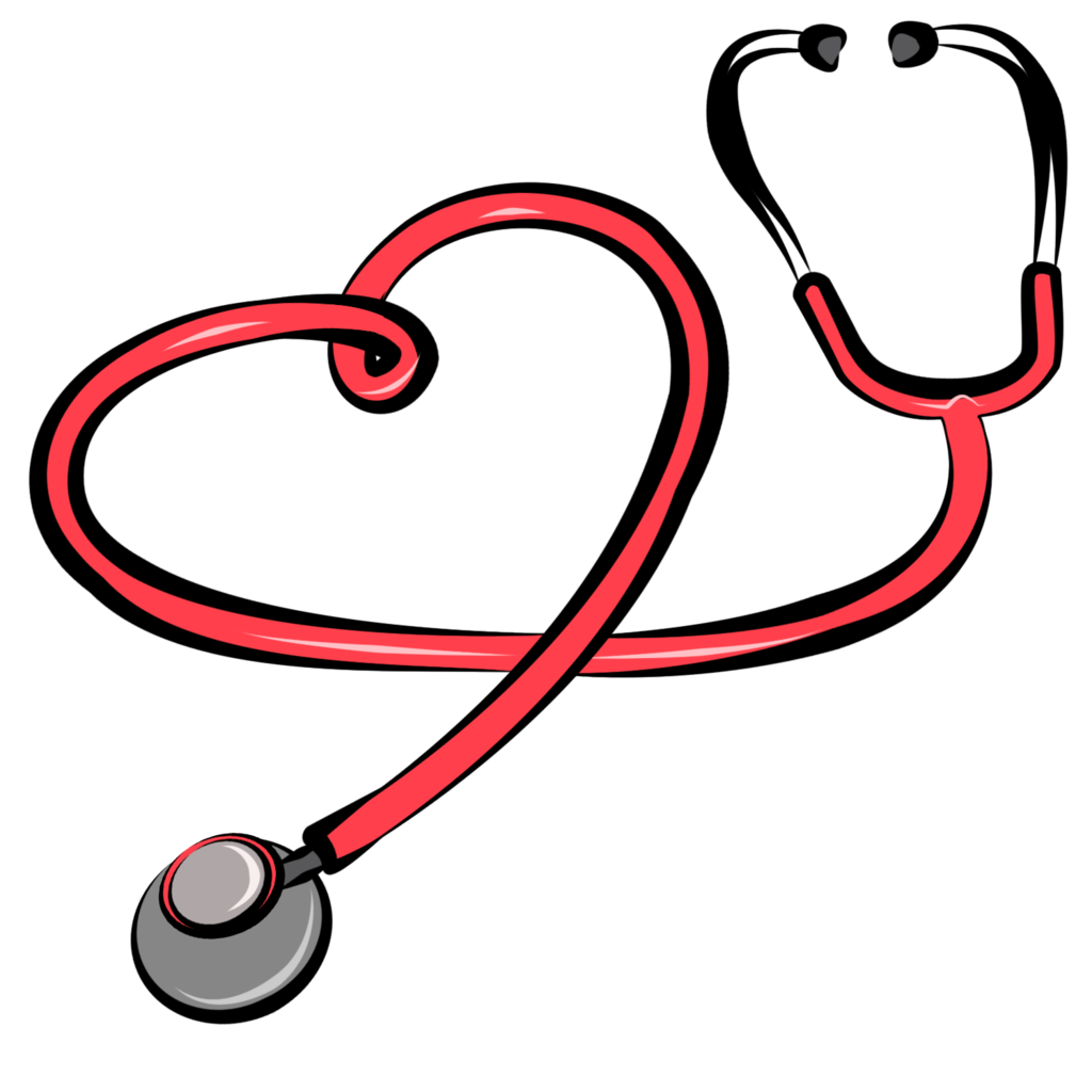 Heart with stethoscope clipart kid