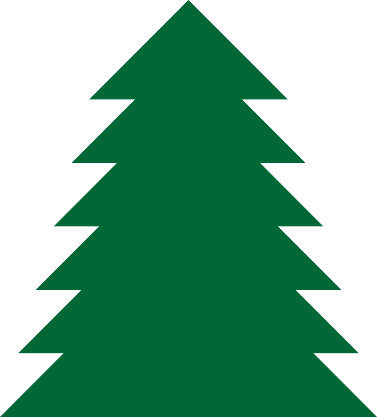 Pine tree clipart a simple green tree