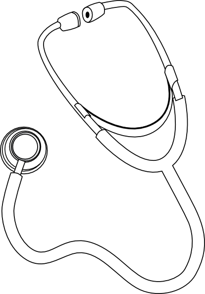 Red stethoscope clip art at vector clip art