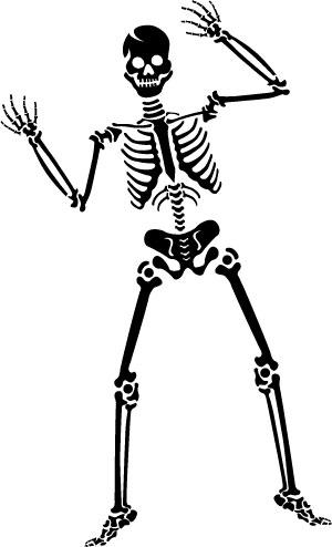 Skeleton clip art 2