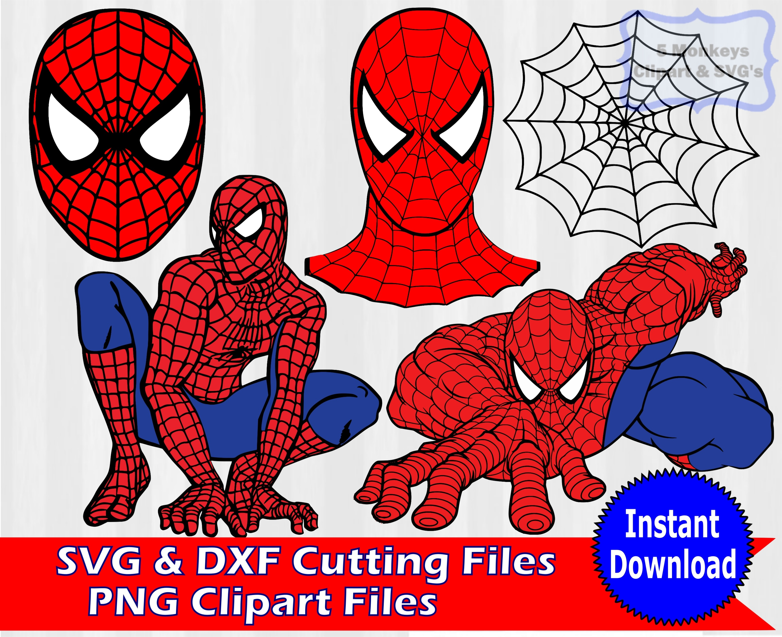 Spiderman Svg Superhero Spiderman Clipart Svg Bundle