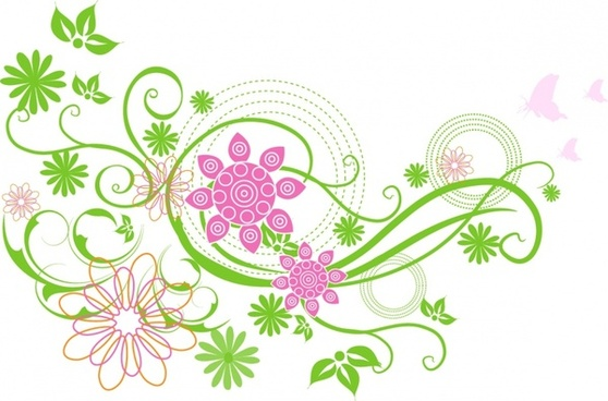Spring flowers clip art free vector download free 3