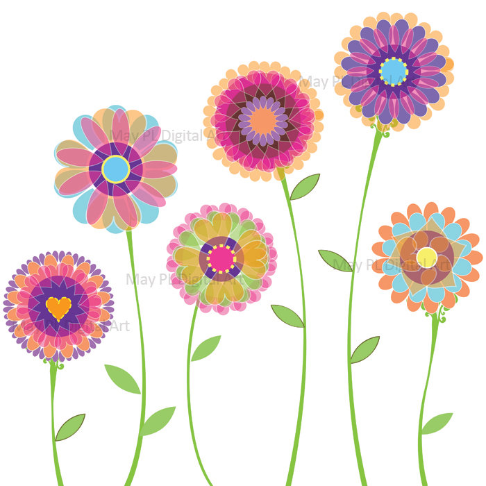 Spring flowers spring borders clipart kid