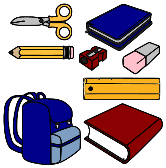 Clipart for school supplies clipartfest