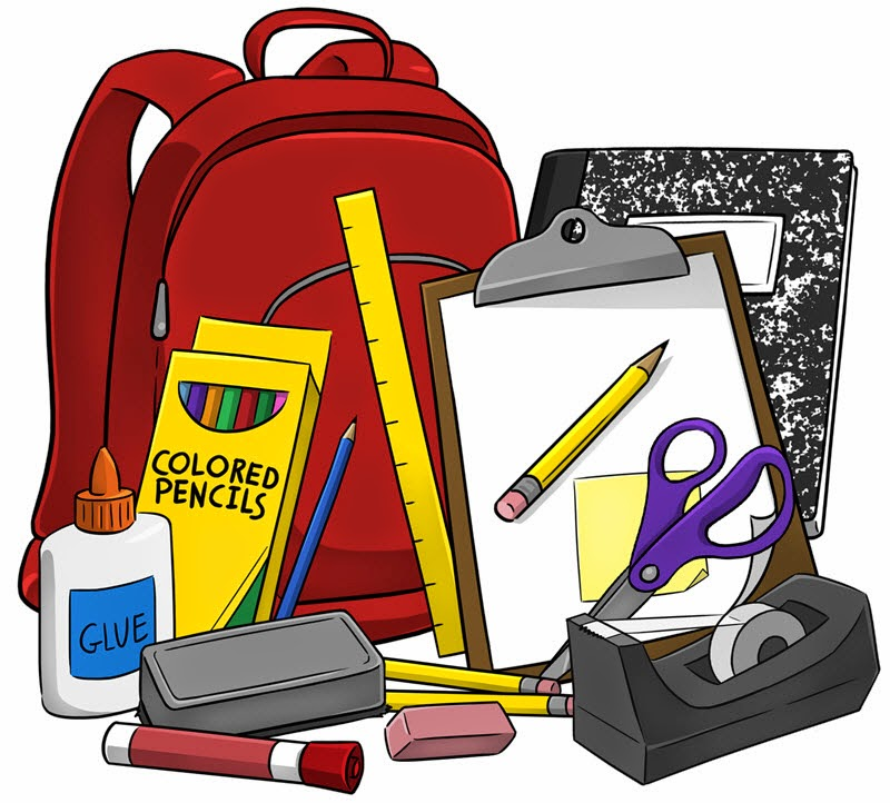 English high school supplies clipart clipartfest
