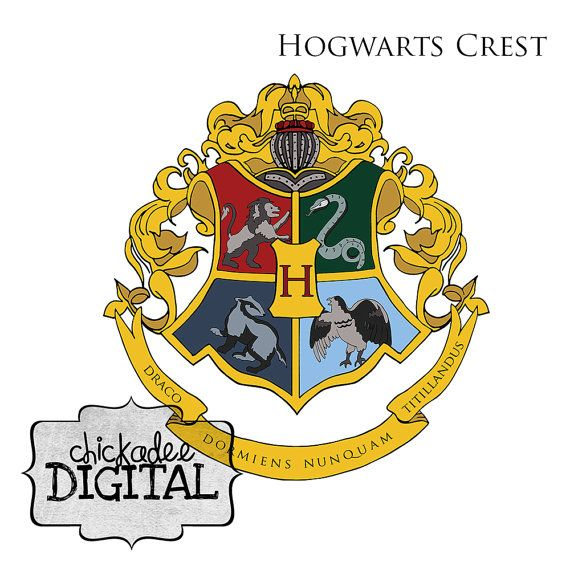 Harry potter hogwarts crest clipart harry houses clip art