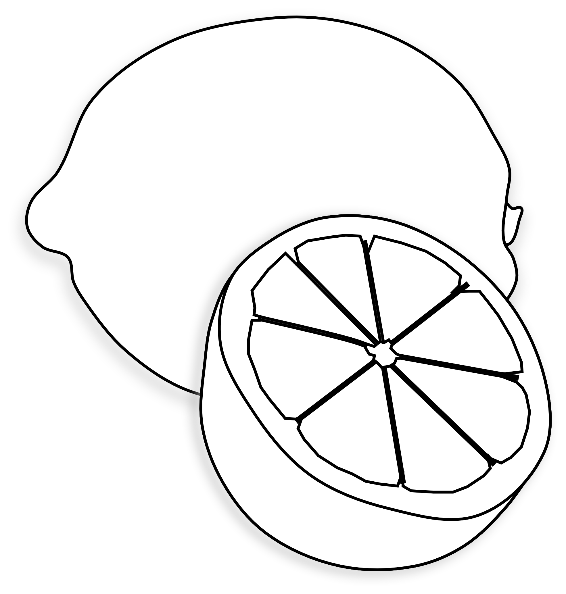 Lemon clipart black and white clipartfest