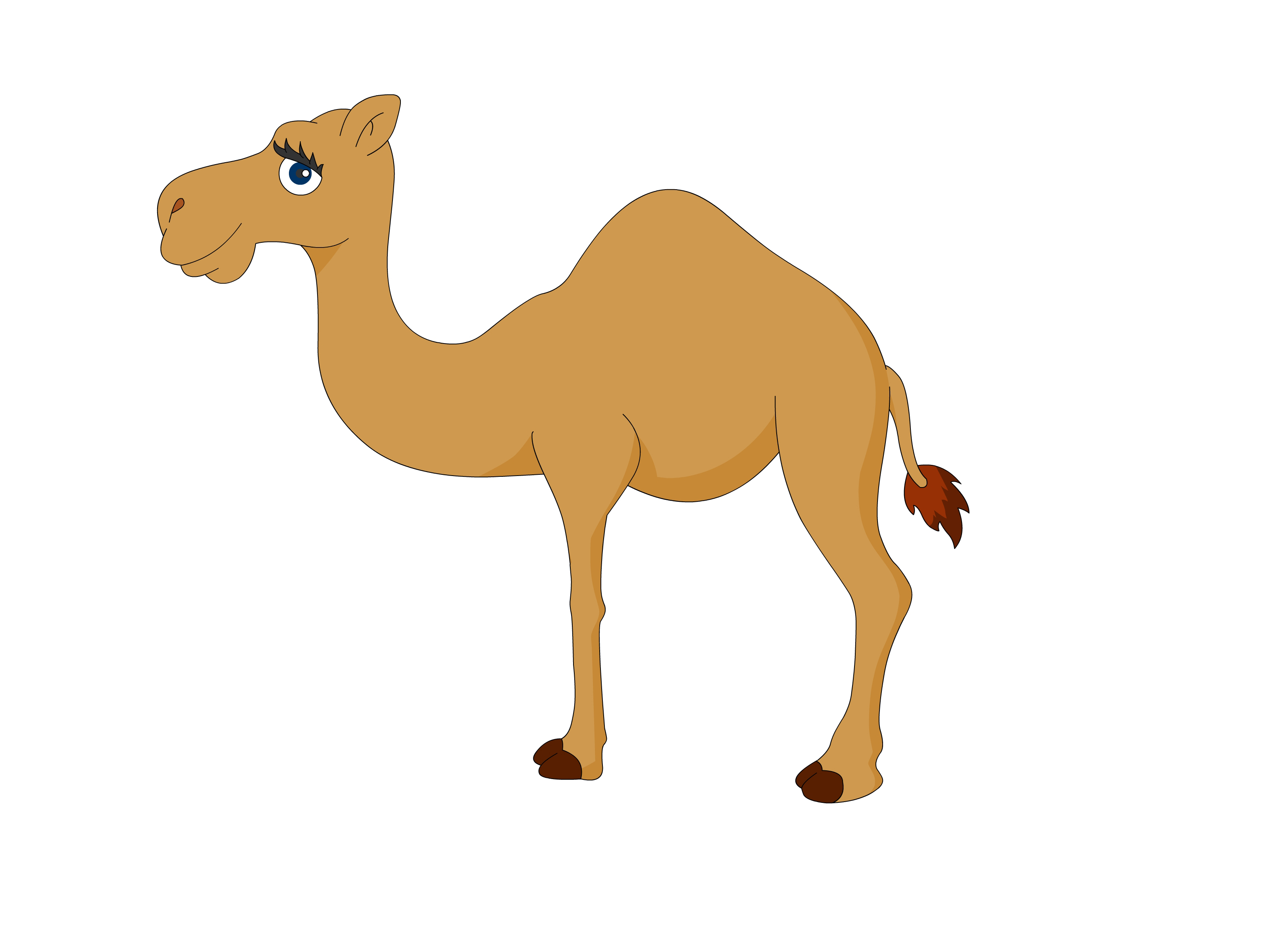 Moving camel clipart kid