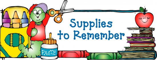 School supplies clipart cliparts