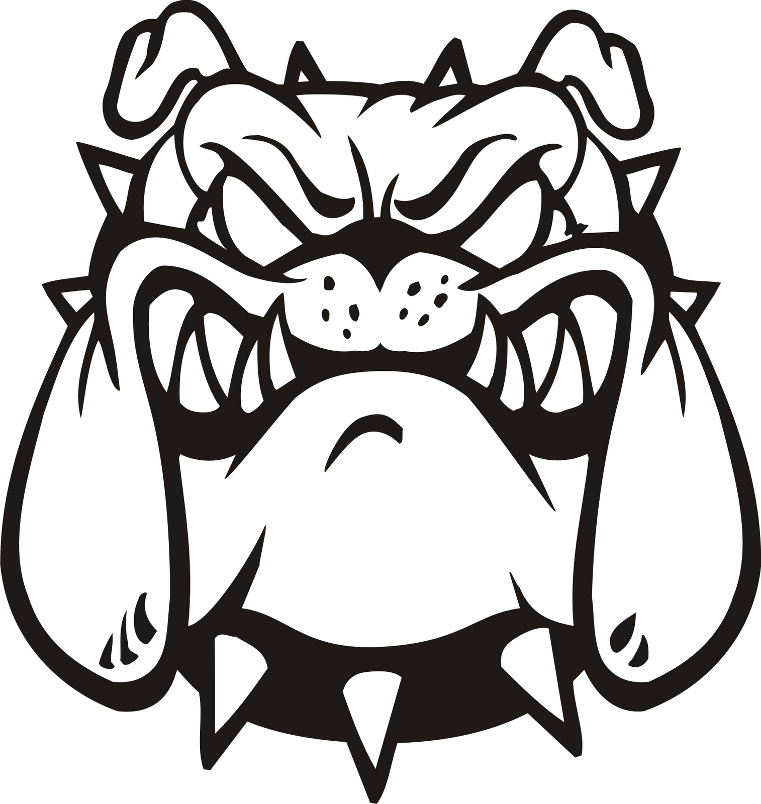 Bulldog vector art free download clip on clipart