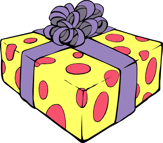 Gift birthday present clip art free clipart images