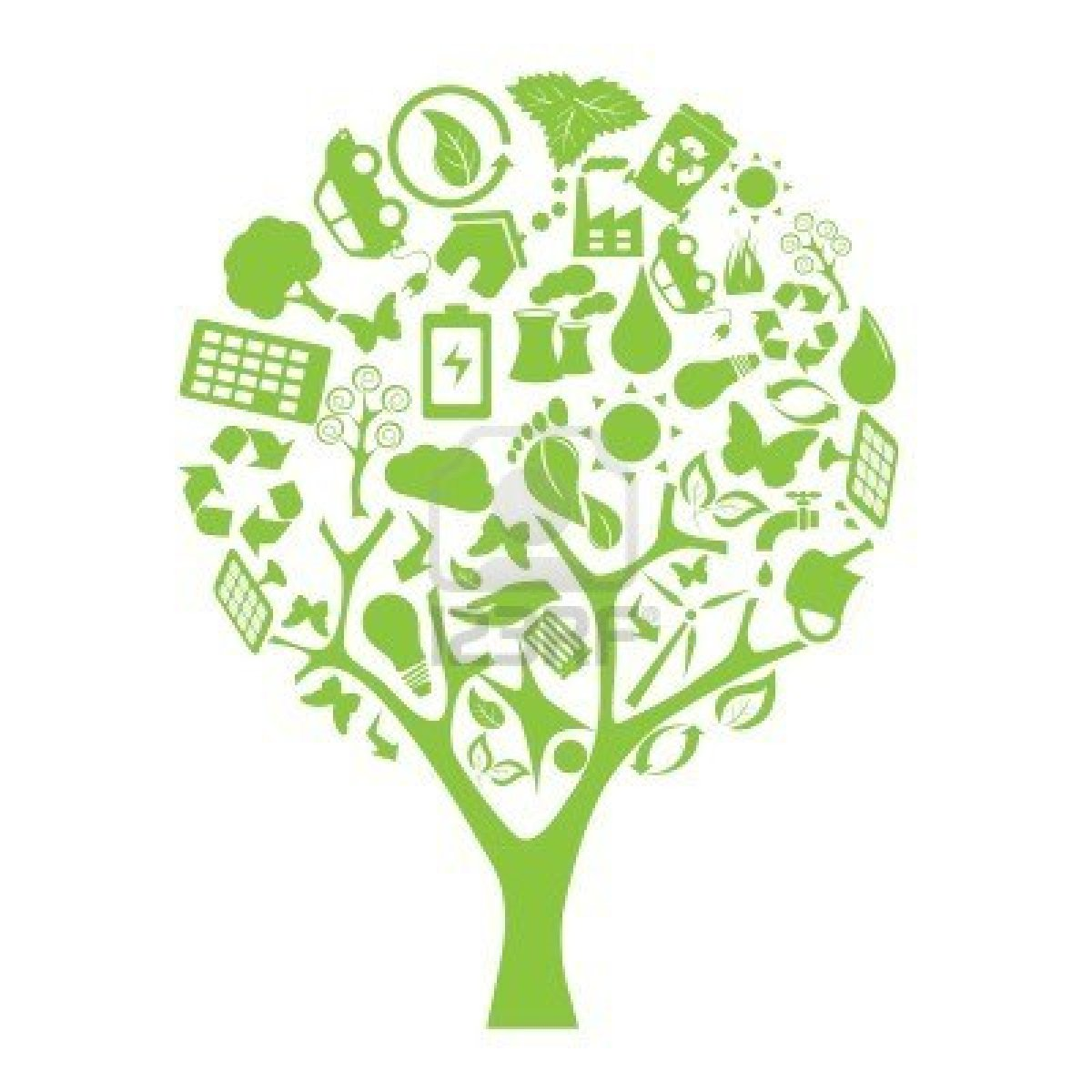 Green technology clipart