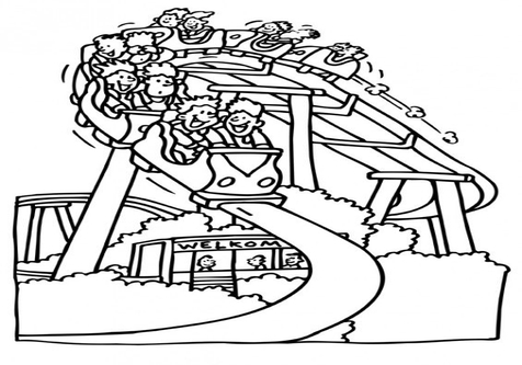Roller coaster rollerasterloringloring page loring image clipart images
