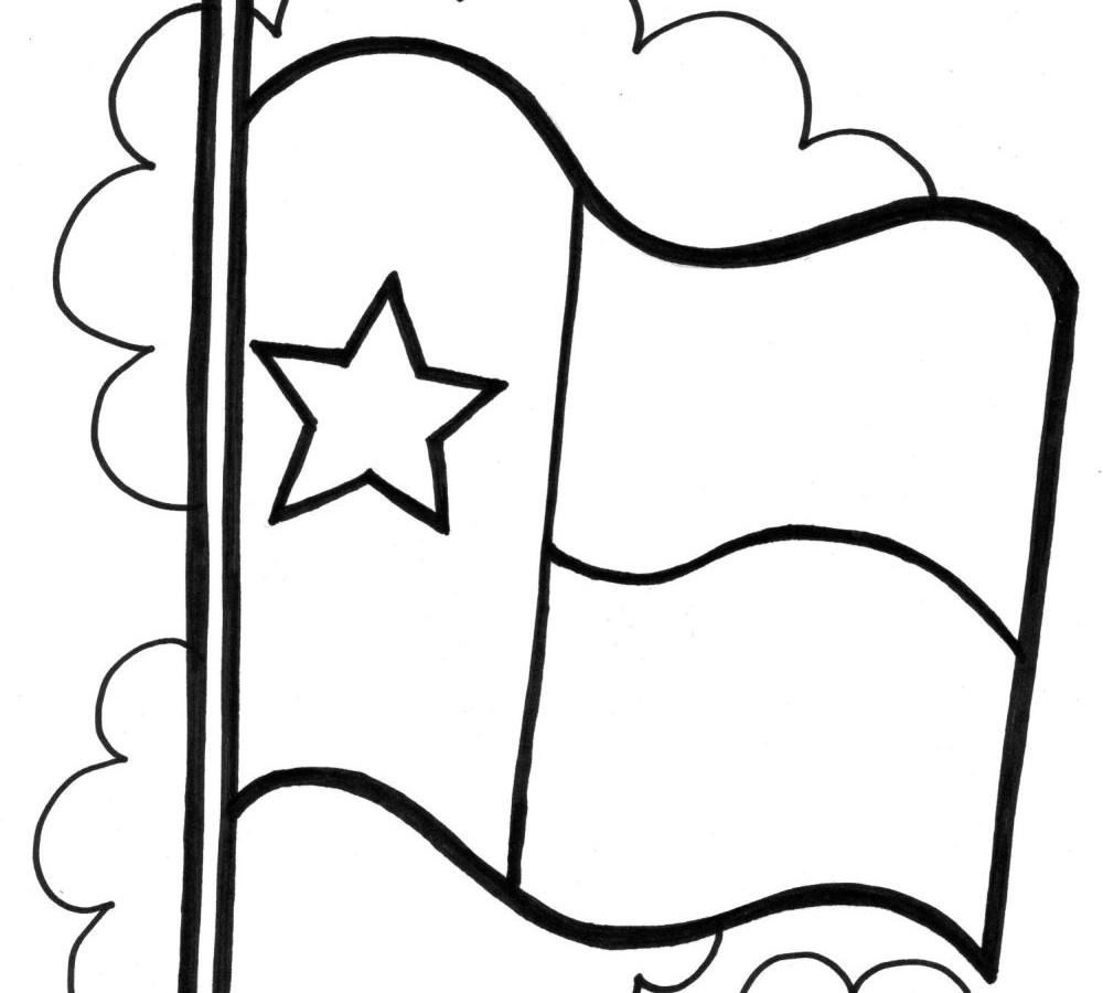 Blank texas flag clipart kid