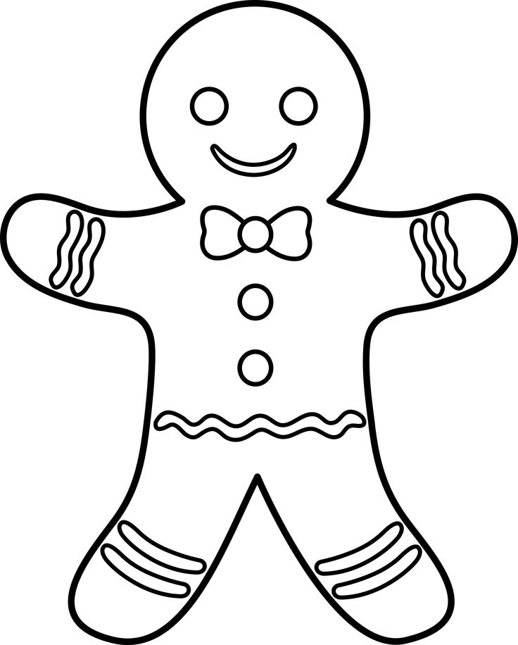 Christmas gingerbread man clip art image 2 2