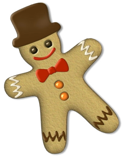 Christmas gingerbread man clip art image 3