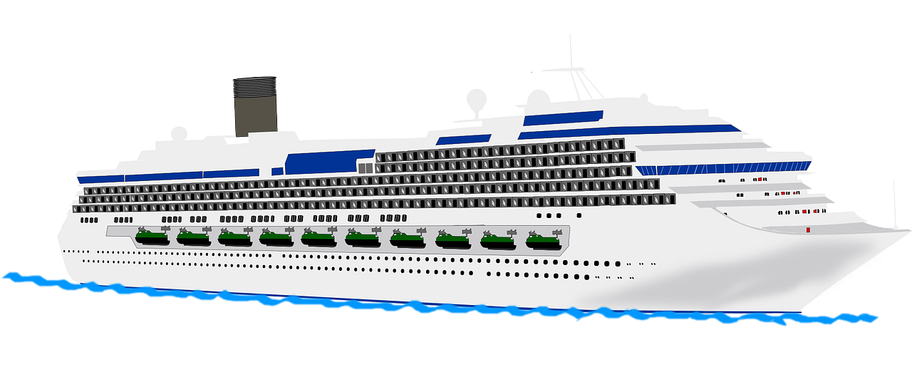 Cruise ship free to use clipart
